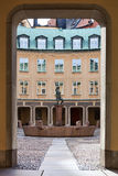 Cuadrado de Branting en la ciudad vieja, Estocolmo Fotografía de archivo