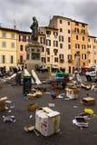 Cuadrado de Campo de Fiori en Roma Italia Imagenes de archivo