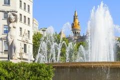 Cuadrado de Cataluña Fotos de archivo libres de regalías