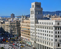 Cuadrado de Cataluña, Barcelona Imagen de archivo