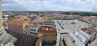 Cuadrado de Ceske Budejovice Fotos de archivo libres de regalías