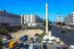Cuadrado 01 de Chisinau Naciones Unidas fotos de archivo