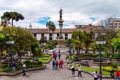 Cuadrado de ciudad de Quito Imágenes de archivo libres de regalías