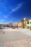 Cuadrado de ciudad en EL-Gouna Fotos de archivo libres de regalías