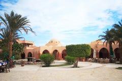 Cuadrado de ciudad en EL-Gouna, Fotos de archivo libres de regalías