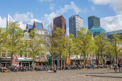 Cuadrado de ciudad en La Haya Imagen de archivo libre de regalías