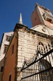 Cuadrado de ciudad en Zadar, Croatia Fotografía de archivo libre de regalías