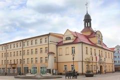 Cuadrado de ciudad en Zary Imagen de archivo libre de regalías