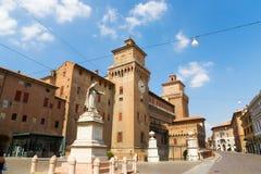 Cuadrado de ciudad italiano Foto de archivo