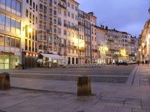 Cuadrado de Coimbra por la tarde Imágenes de archivo libres de regalías