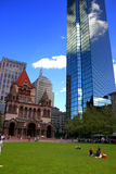 Cuadrado de Copley, Boston Fotografía de archivo libre de regalías