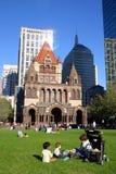 Cuadrado de Copley, Boston Fotos de archivo libres de regalías
