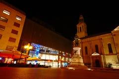 Cuadrado de Cvijetni, Zagreb, Croacia imagen de archivo