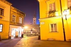 Cuadrado de Dolac en la opinión de la tarde del advenimiento de Zagreb Imagenes de archivo