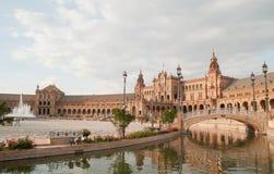 Cuadrado de España, Sevilla Fotos de archivo libres de regalías