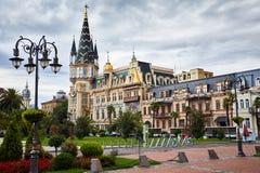 Cuadrado de Europa en Batumi fotos de archivo libres de regalías