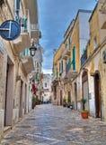 Cuadrado de Garibaldi. Monopoli. Apulia. fotos de archivo