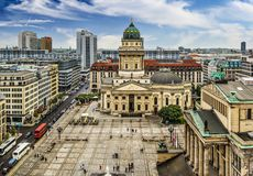 Cuadrado de Gendarmenmarkt en Berlín Fotografía de archivo