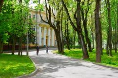 Cuadrado de héroes de la guerra patriótica de 1812, palacio del gobernador XVIII del siglo, Vitebsk, Bielorrusia Imagen de archivo