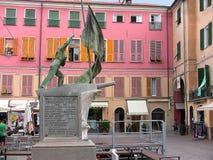 Cuadrado de Italia LaiguegliaLibertà fotos de archivo libres de regalías