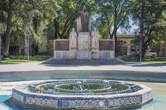 Cuadrado de Italia (plaza Italia) en Mendoza, la Argentina. Fotografía de archivo libre de regalías