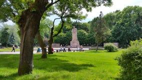 Cuadrado de Ivan Franko Los monumentos de Lviv ucrania Foto de archivo libre de regalías