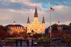 Cuadrado de Jackson, New Orleans, La. Imagenes de archivo