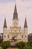 Cuadrado de Jackson y catedral de St. Louis, New Orleans fotos de archivo libres de regalías