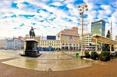 Cuadrado de Jelacic de la prohibición en Zagreb Imagen de archivo