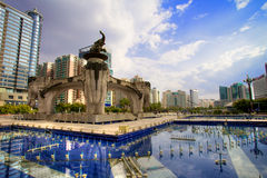 Cuadrado de Jinhu en Nanning, China Fotos de archivo libres de regalías