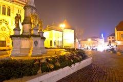 Cuadrado de Kaptol en la opinión de la tarde del advenimiento de Zagreb Foto de archivo libre de regalías