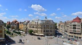 Cuadrado de la ópera de Timisoara Imágenes de archivo libres de regalías