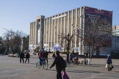 Cuadrado de la administración durante Año Nuevo en Krasnodar Imagen de archivo