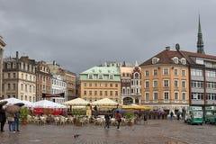 Cuadrado de la bóveda de Riga Imagen de archivo libre de regalías
