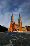 Cuadrado de la bóveda en Szeged, Hungría imágenes de archivo libres de regalías
