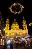 Cuadrado de la basílica en el christmastime Fotografía de archivo libre de regalías