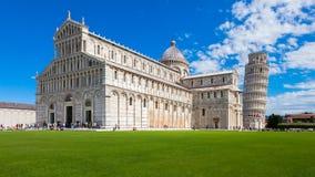 Cuadrado de la catedral en Pisa Foto de archivo