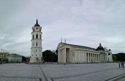 Cuadrado de la catedral en Vilnius, Lituania Imágenes de archivo libres de regalías