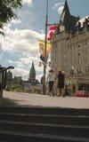 Cuadrado de la confederación, Ottawa, Ontario, Canadá. Foto de archivo