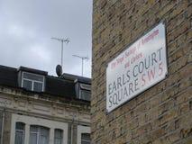 Cuadrado de la corte del conde, Londres Imágenes de archivo libres de regalías