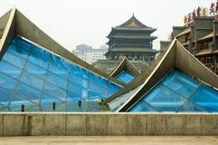 Cuadrado de la fuente en el centro de Xian foto de archivo
