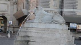 Cuadrado de la gente y cuadrado de los leones en Roma metrajes