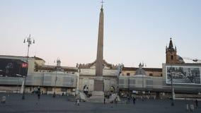Cuadrado de la gente y cuadrado de los leones en Roma almacen de video