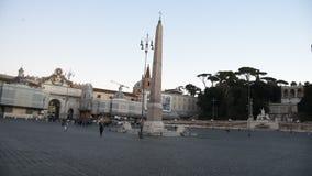 Cuadrado de la gente y cuadrado de los leones en Roma almacen de metraje de vídeo