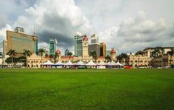 Cuadrado de la independencia de Malasia con la opinión del panorama Fotos de archivo
