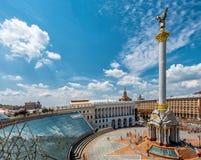 Cuadrado de la independencia, Kiev, Ucrania Fotografía de archivo