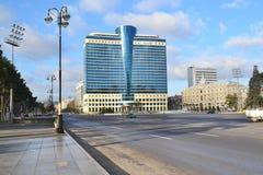 Cuadrado de la libertad en Baku Imagenes de archivo