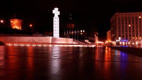 Cuadrado de la libertad en Tallinn, Estonia Foto de archivo