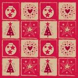 Cuadrado de la Navidad Fotos de archivo libres de regalías