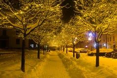 Cuadrado de la Navidad en Banska Bystrica Imagen de archivo libre de regalías